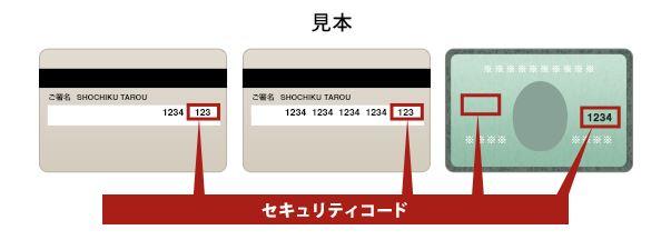セキュリティ クレジット コード カード